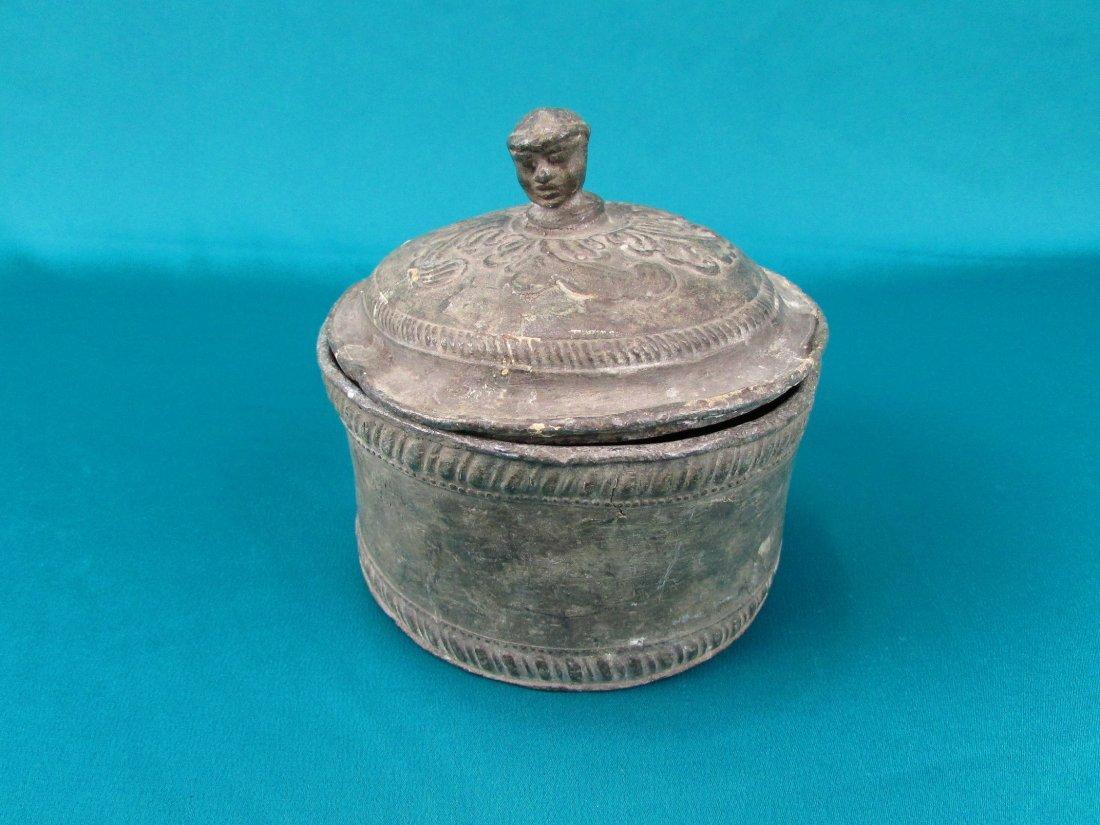 Dutch Lead Tobacco Box c1750 With Slave Head Finial - 2