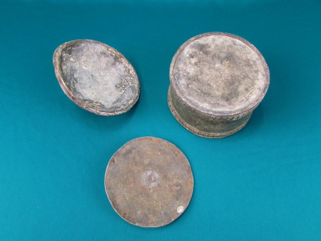 Dutch Lead Tobacco Box c1750 With Slave Head Finial - 6