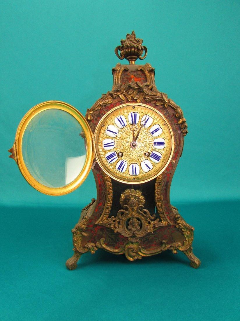 French 19th Century Boulle  Ormolu Mantel Clock - 2