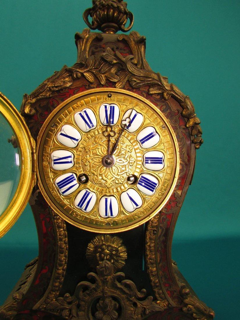 French 19th Century Boulle  Ormolu Mantel Clock - 3