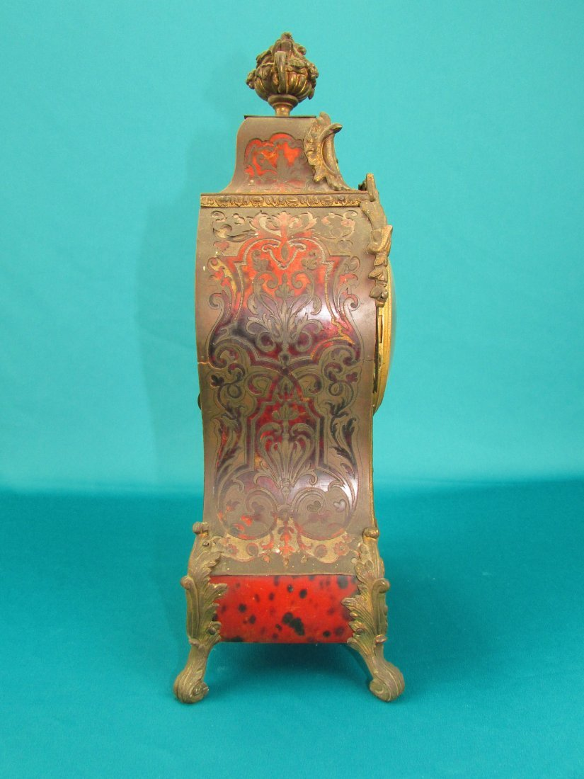 French 19th Century Boulle  Ormolu Mantel Clock - 4