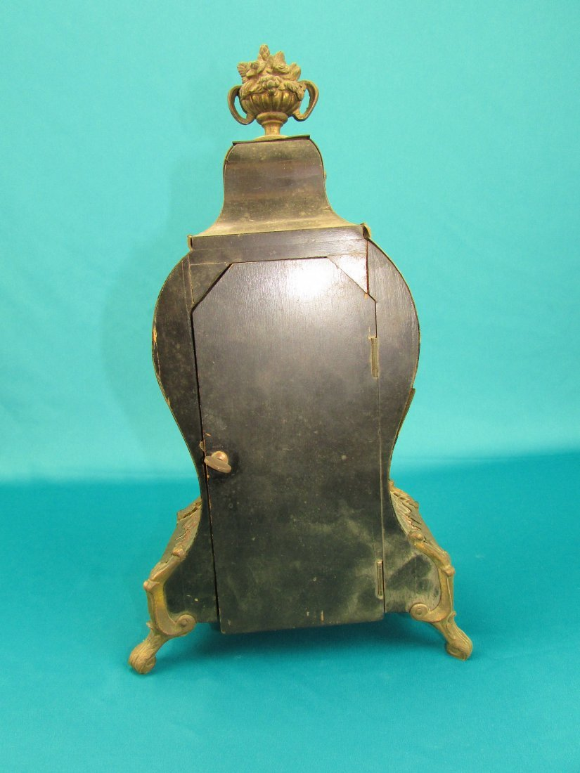French 19th Century Boulle  Ormolu Mantel Clock - 5