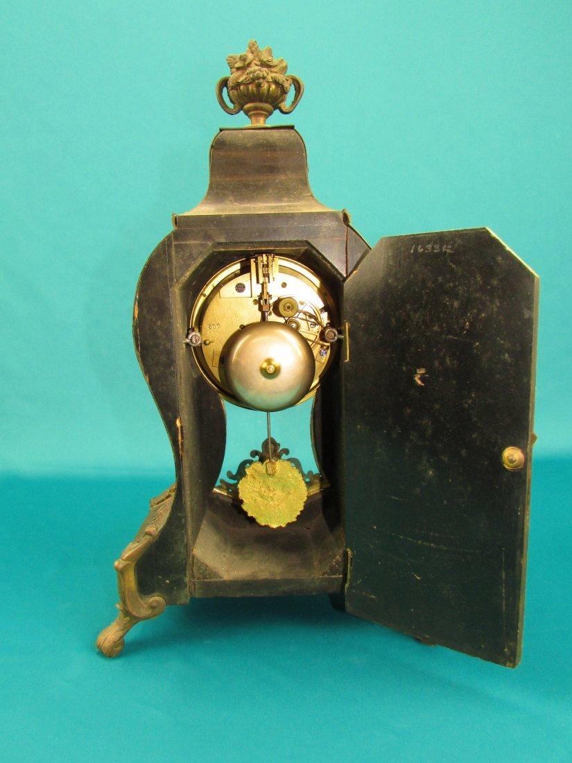 French 19th Century Boulle  Ormolu Mantel Clock - 6
