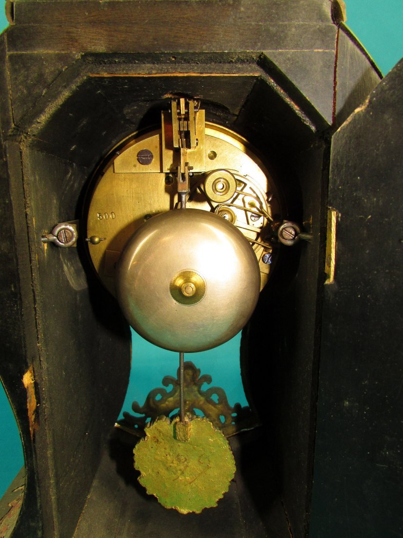 French 19th Century Boulle  Ormolu Mantel Clock - 7