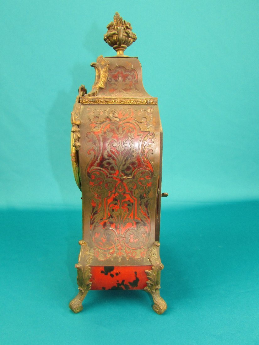 French 19th Century Boulle  Ormolu Mantel Clock - 8