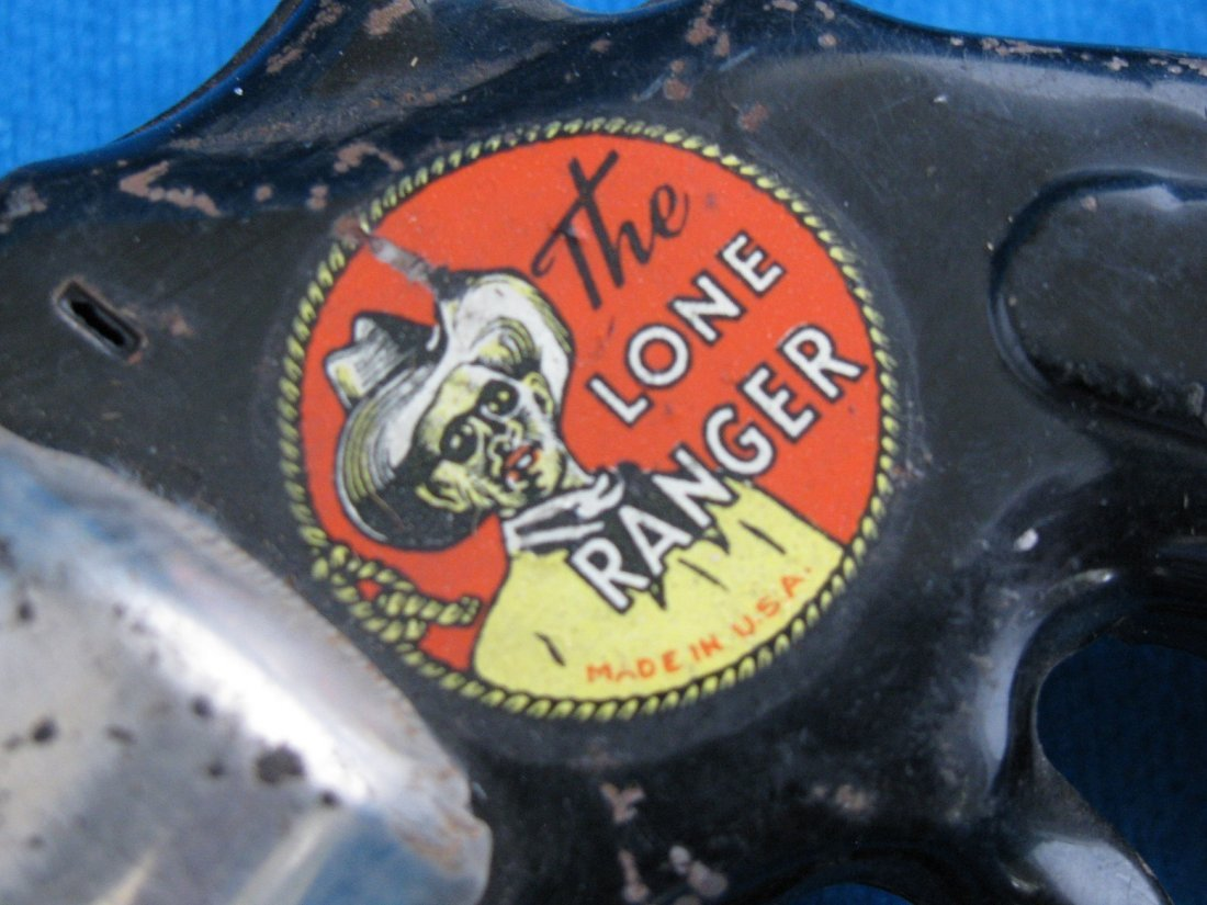 1938 Marx The Lone Ranger HiYo Silver Toy Click Pistol - 4