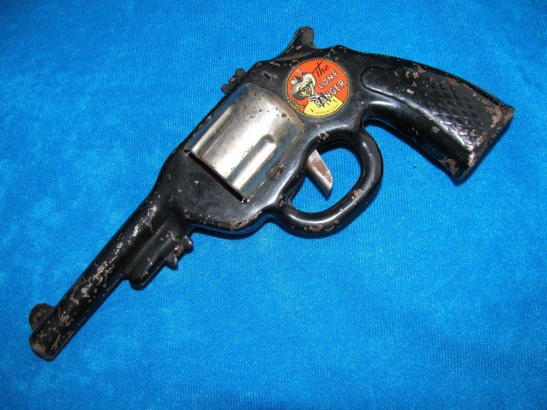 1938 Marx The Lone Ranger HiYo Silver Toy Click Pistol - 7