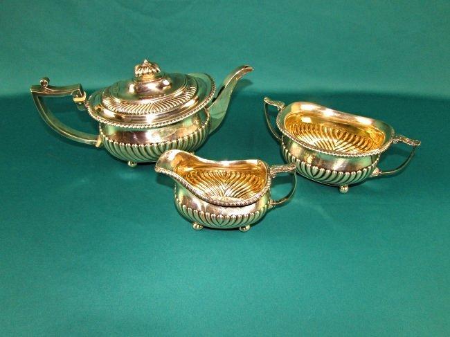 Georgian Sterling Silver Tea Set London 1815 19th Cent.