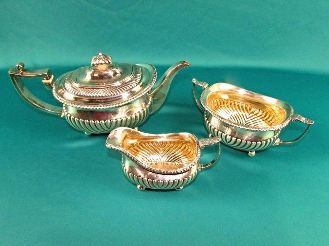 Georgian Sterling Silver Tea Set London 1815 19th Cent. - 2