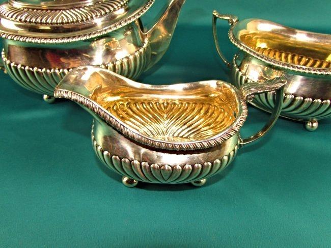 Georgian Sterling Silver Tea Set London 1815 19th Cent. - 3
