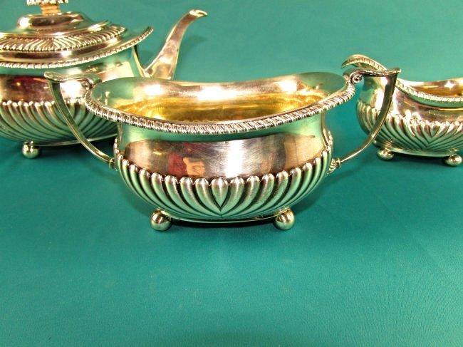 Georgian Sterling Silver Tea Set London 1815 19th Cent. - 5