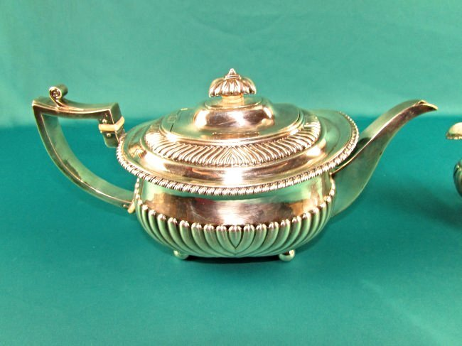 Georgian Sterling Silver Tea Set London 1815 19th Cent. - 6