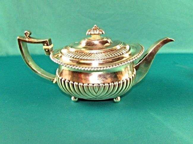 Georgian Sterling Silver Tea Set London 1815 19th Cent. - 7