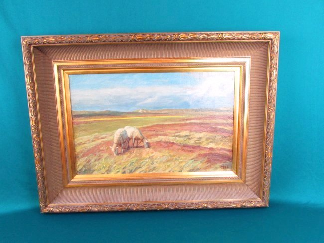 20th Cent. Marius Jensen Hindevad Oil Painting Danish - 2