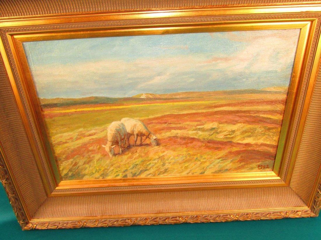 20th Cent. Marius Jensen Hindevad Oil Painting Danish - 4