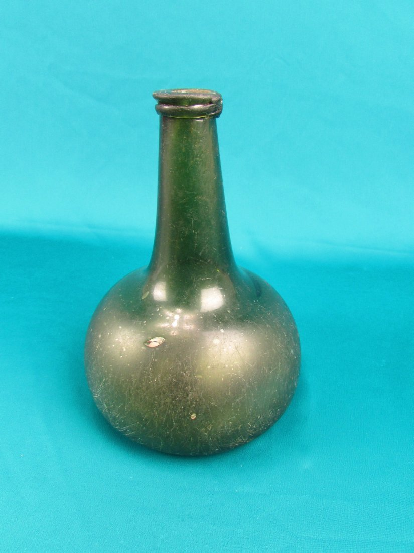 18th cent. Dutch Onion  Wine Bottle Circa 1740's