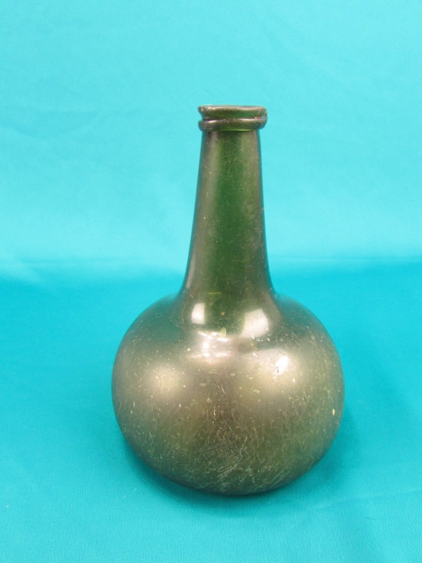18th cent. Dutch Onion  Wine Bottle Circa 1740's - 2