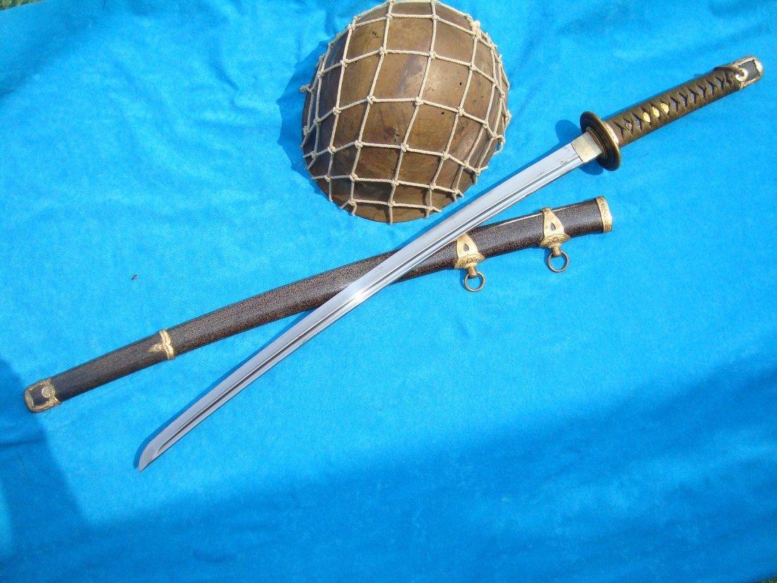 WW2 Japanese Samurai Sword Naval Katana Kai Gunto