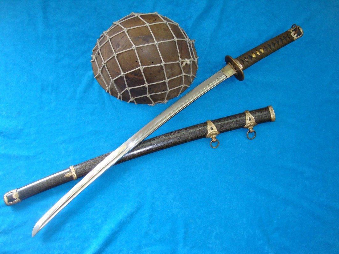 WW2 Japanese Samurai Sword Naval Katana Kai Gunto - 5