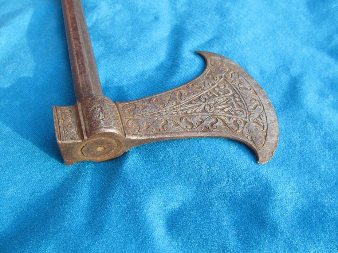 18th/19th Century Persian Saddle Axe Hatchet Tabor - 2
