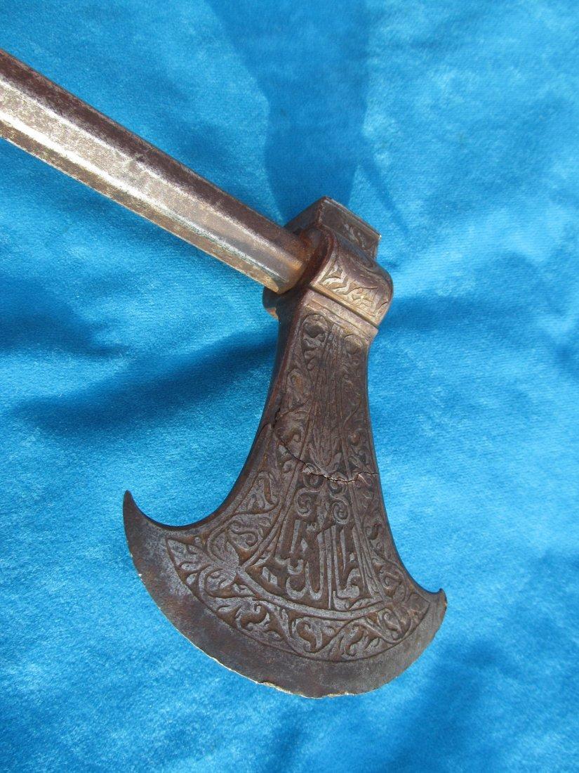 18th/19th Century Persian Saddle Axe Hatchet Tabor - 4