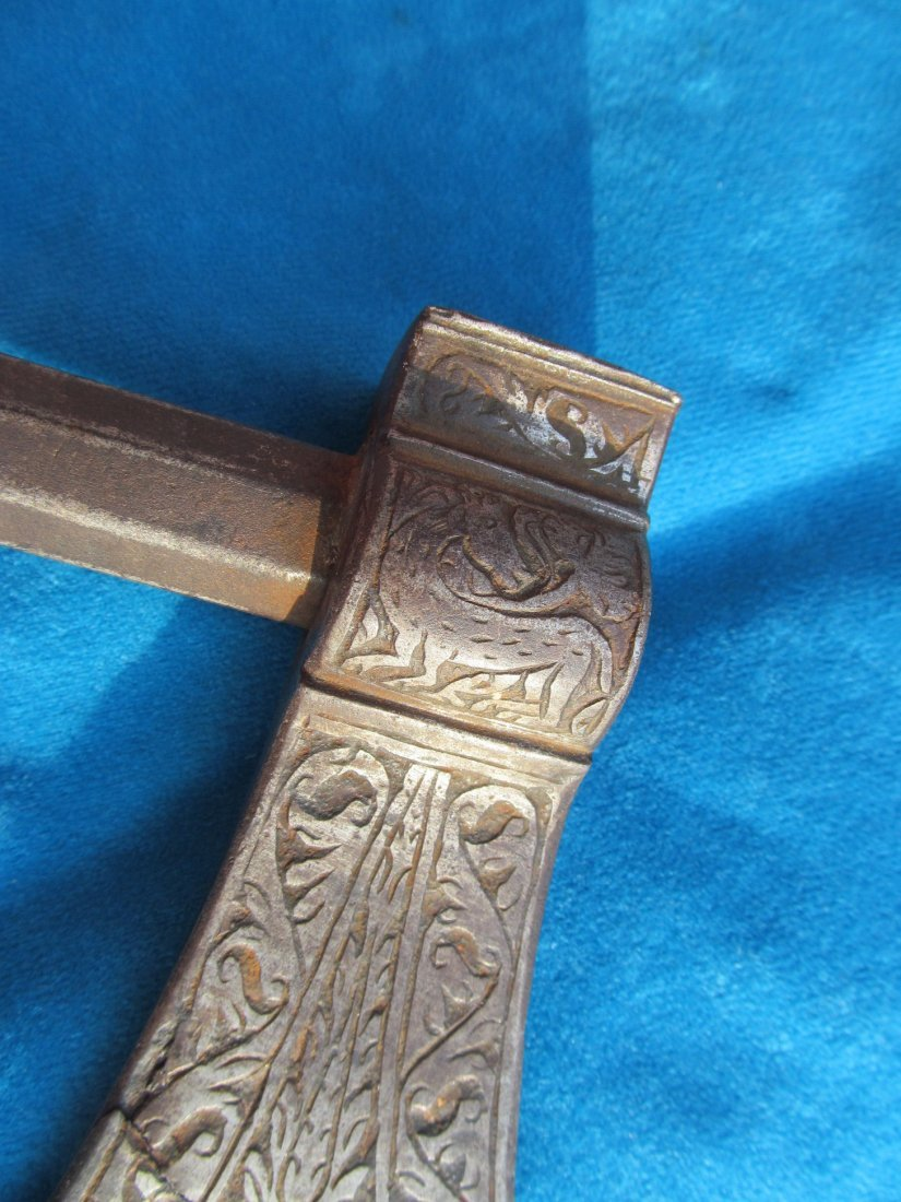 18th/19th Century Persian Saddle Axe Hatchet Tabor - 5