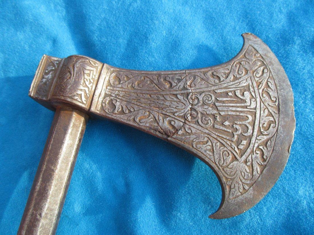 18th/19th Century Persian Saddle Axe Hatchet Tabor - 6