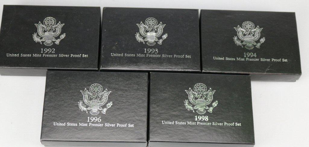 1992 US Mint Premier Silver Proof Set