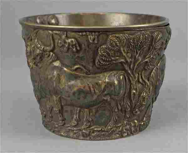Rare Mycenaen Silver Gilt Vapheio Cup C. 1900 Emile