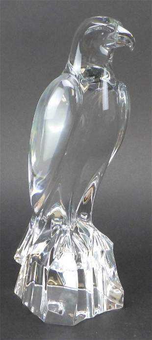 """French Baccarat Crystal Bald Eagle 10"""""""