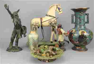 """Early Wood Toy Horse Pull Toy """"Dappled Gray"""""""