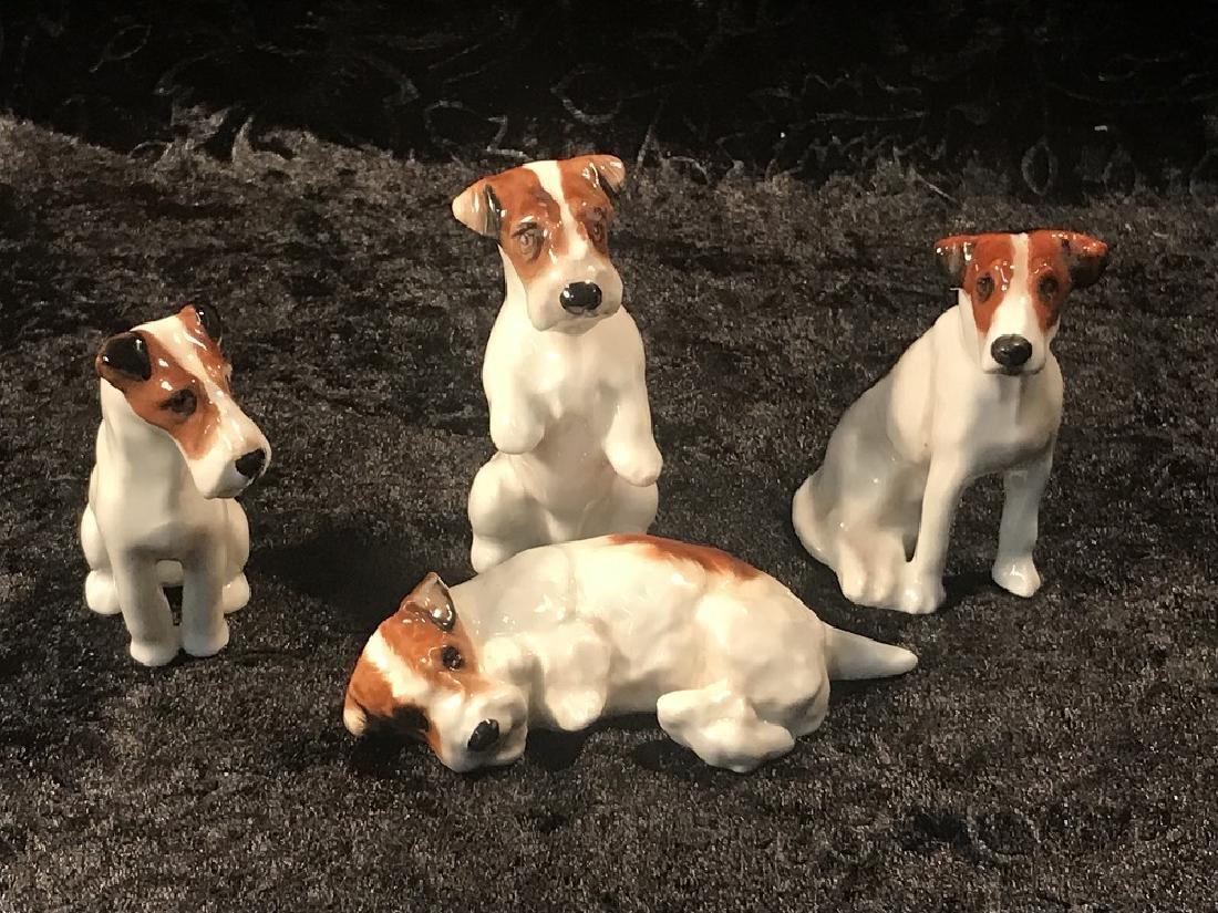 4 Royal Doulton Porcelain Dog Figurines