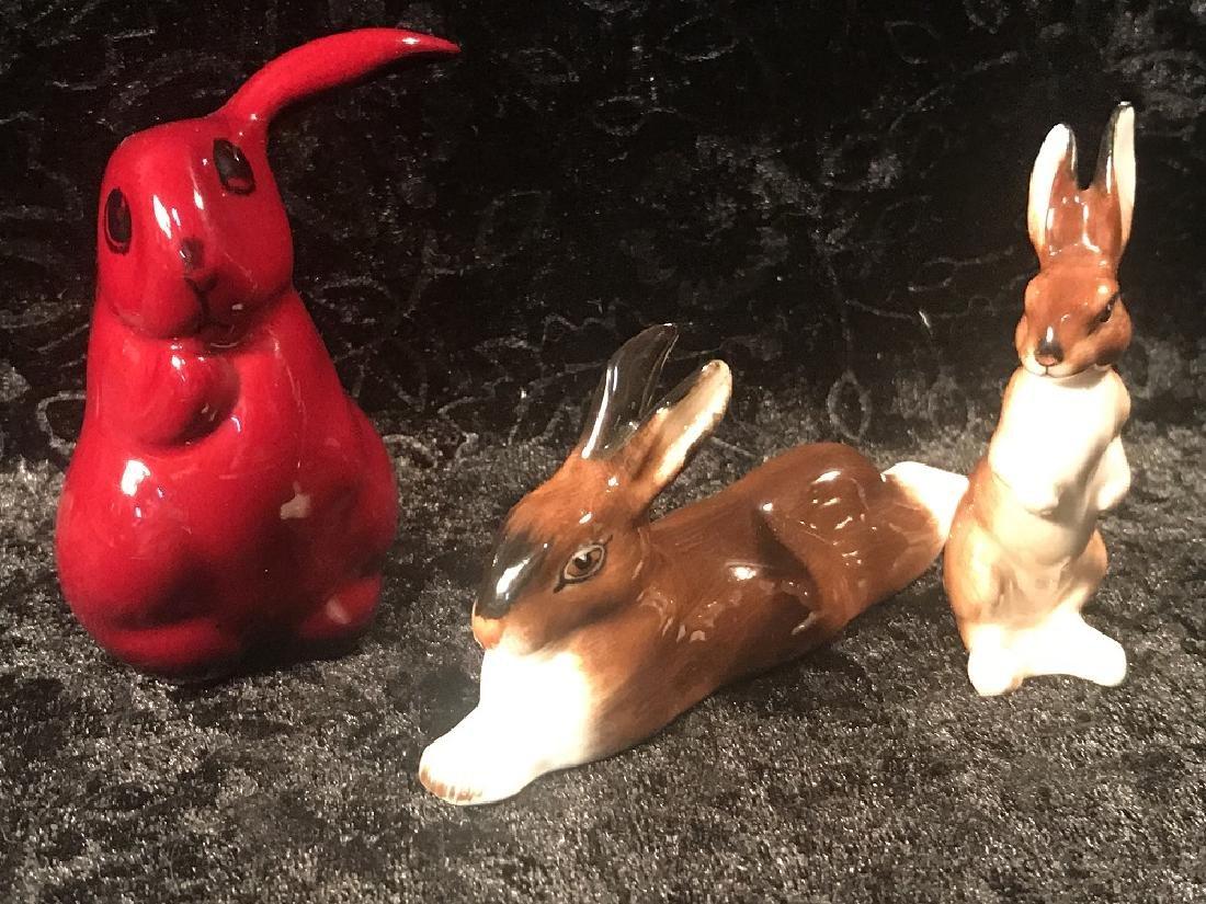 3 Royal Doulton Rabbit Figurines