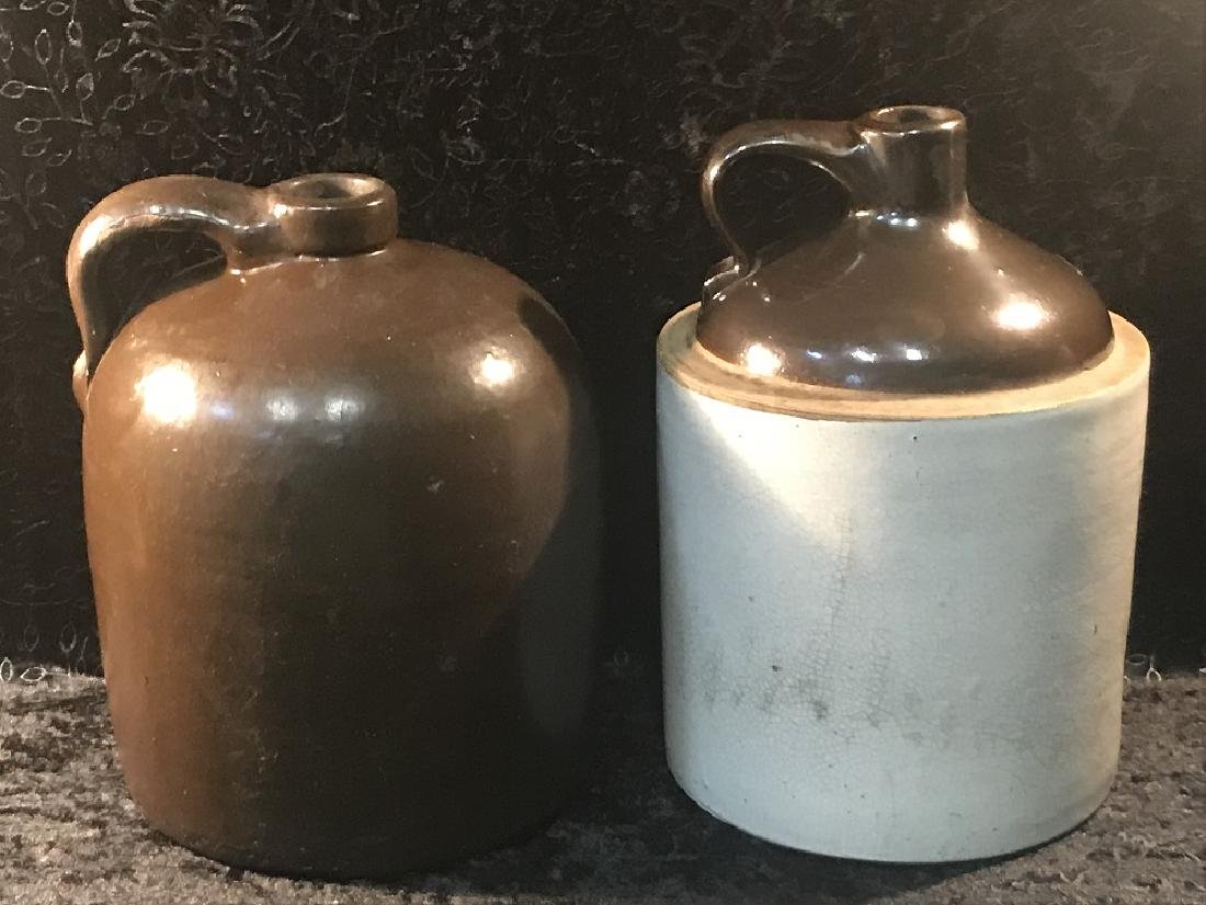 2 Antique Stoneware Jugs
