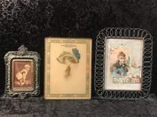 3 Pieces of Framed Victorian Advertising Ephemera
