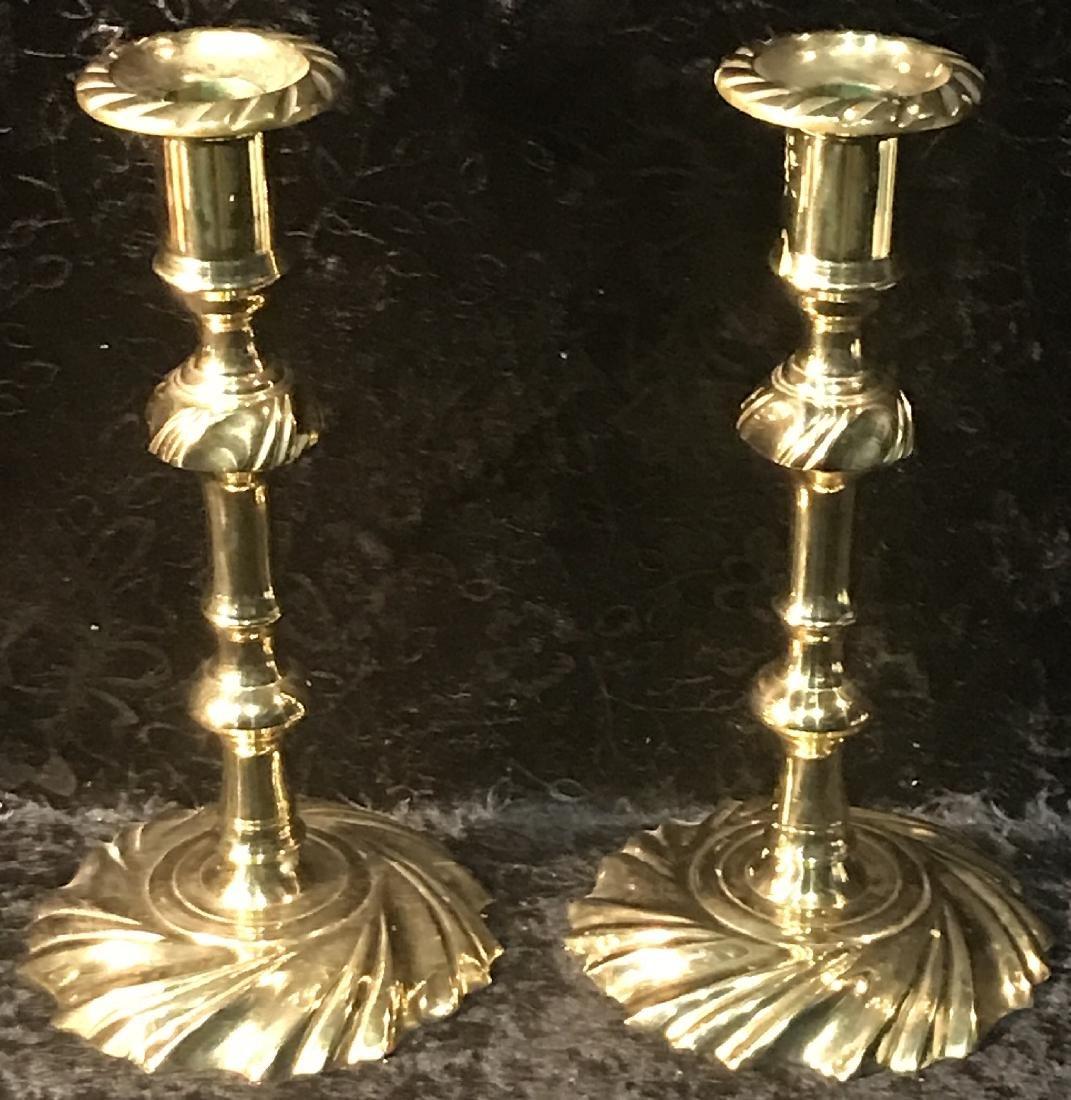 Pair of Williamsburg Brass Candlesticks