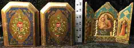 3 Florentine Gilt Wood Items