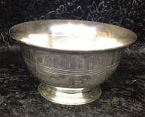 Tiffany  Co Paul Revere Style Sterling Bowl