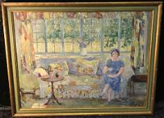 Sturges Lillian Baker OOB Impressionist Interior