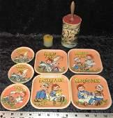 Tin Litho Raggedy Ann Toy Plates