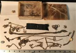 Agate Box wGold Filled Jewelry