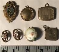 7 Pieces Costume Jewelry Victorian Lockets