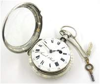 19th century French verge pocket watch by Samuel