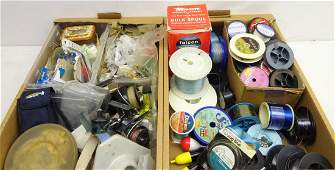 Quantity of fishing tackle including large number of