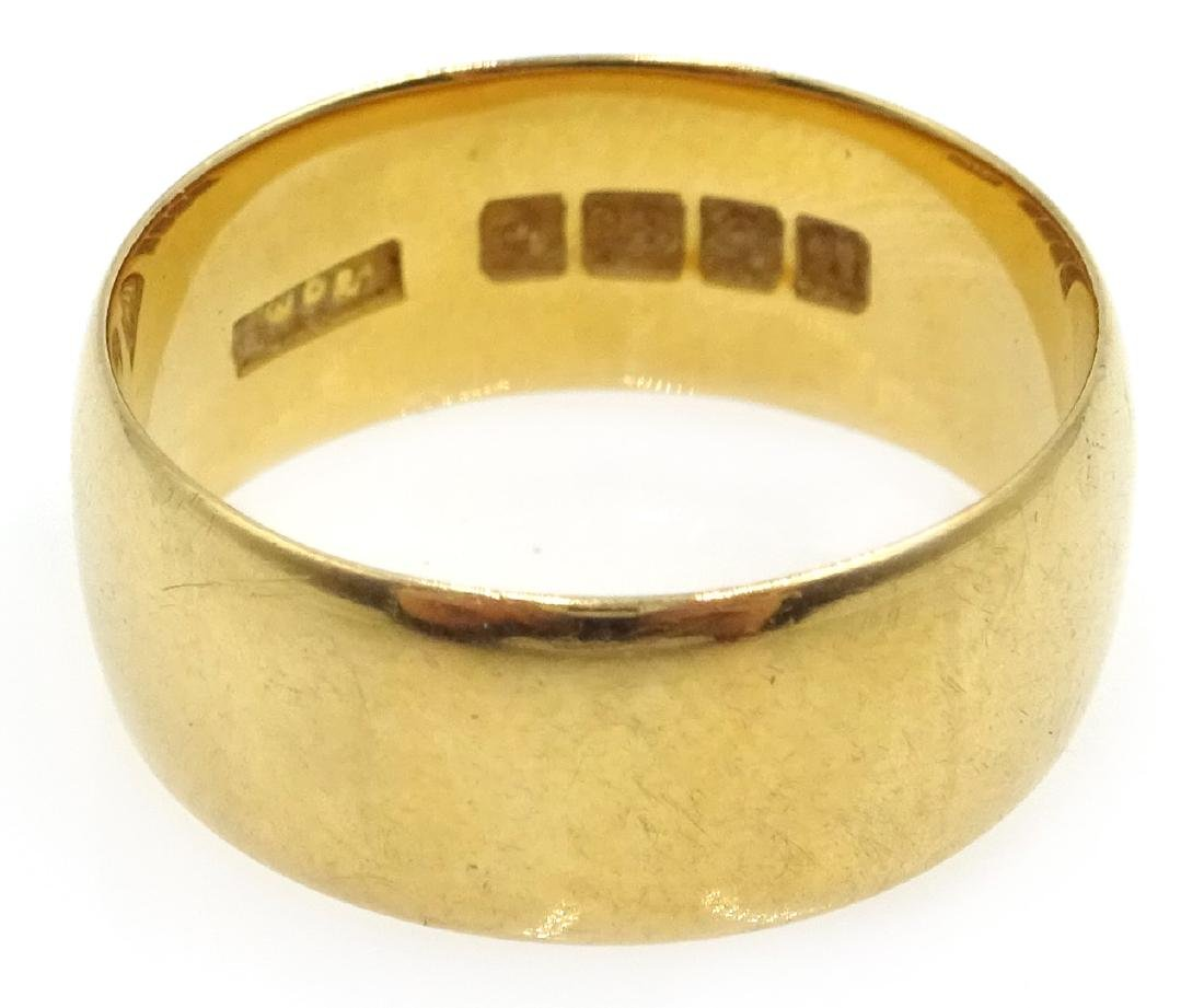 18ct gold wedding band Sheffield 1937