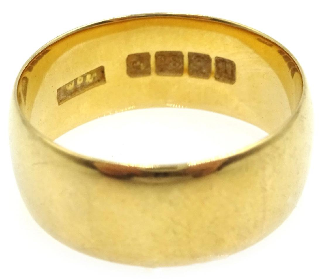 18ct gold wedding band Sheffield 1937 - 2
