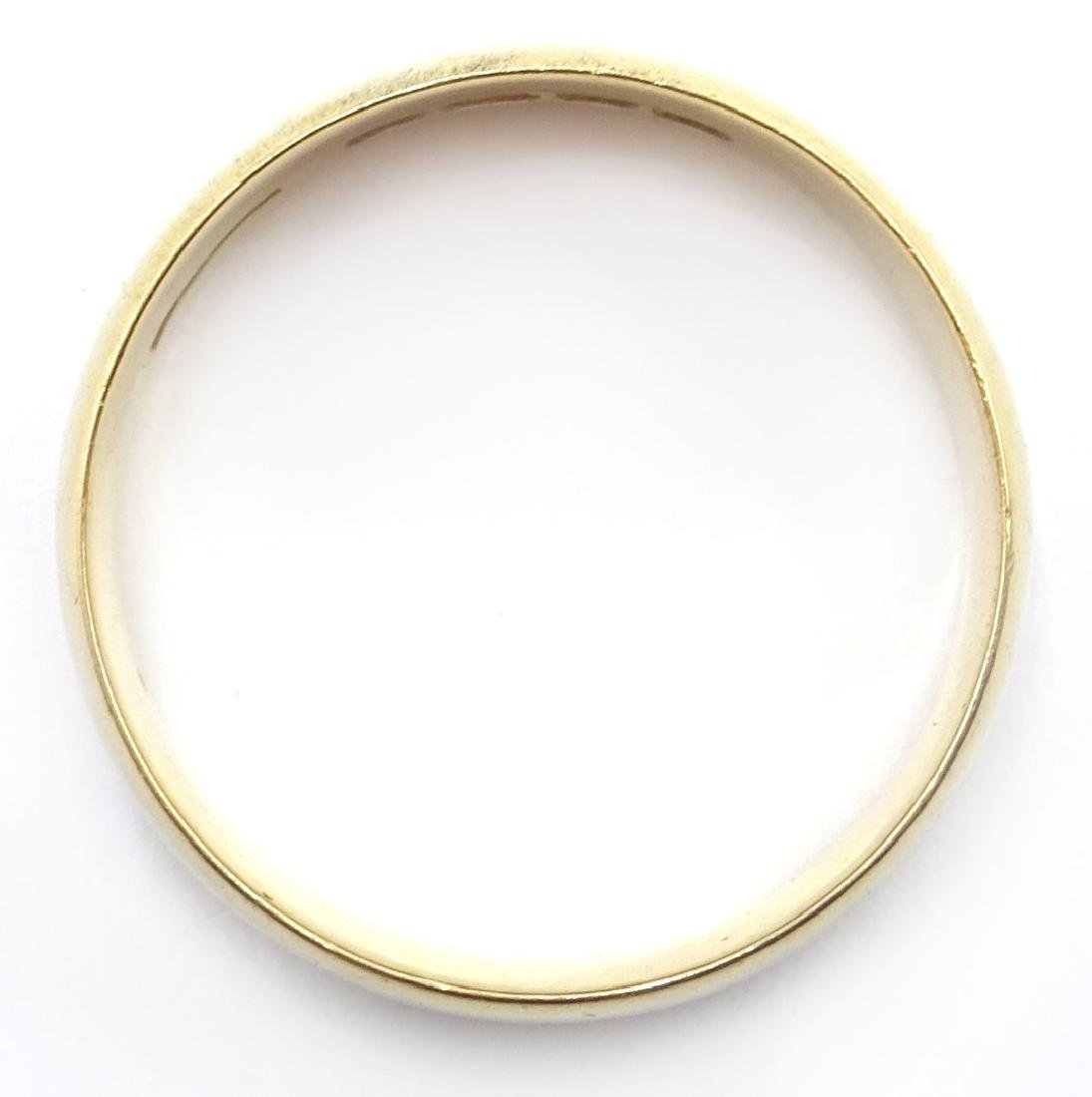 18ct gold wedding band Sheffield 1937 - 3