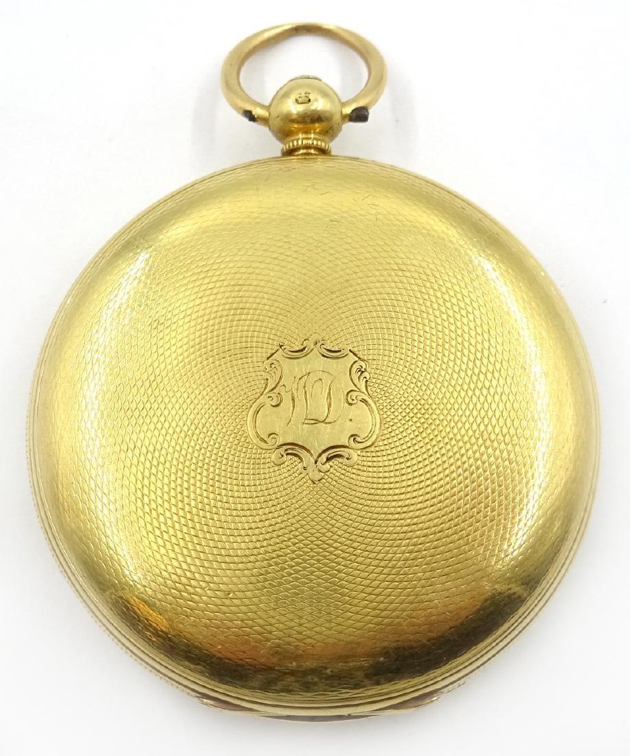18ct gold hunter pocket watch by M Edler London & - 2