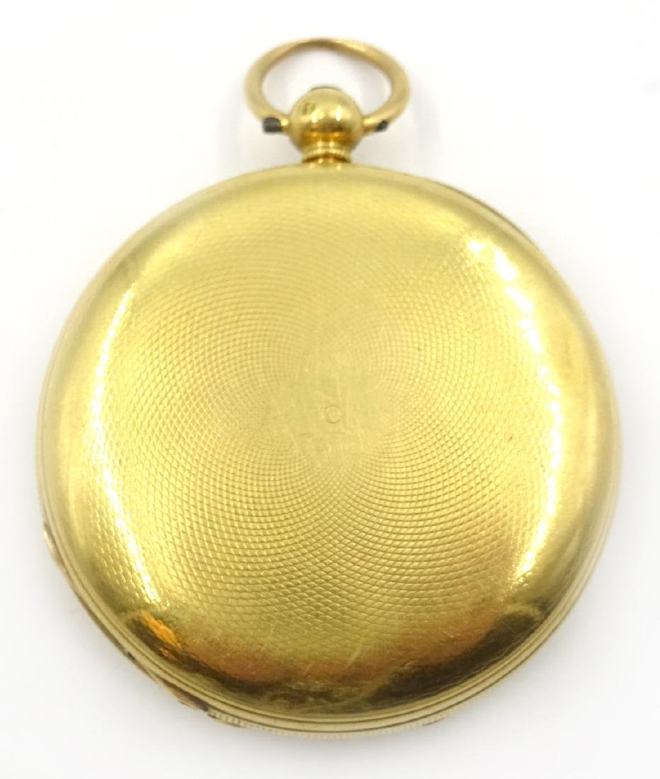 18ct gold hunter pocket watch by M Edler London & - 3