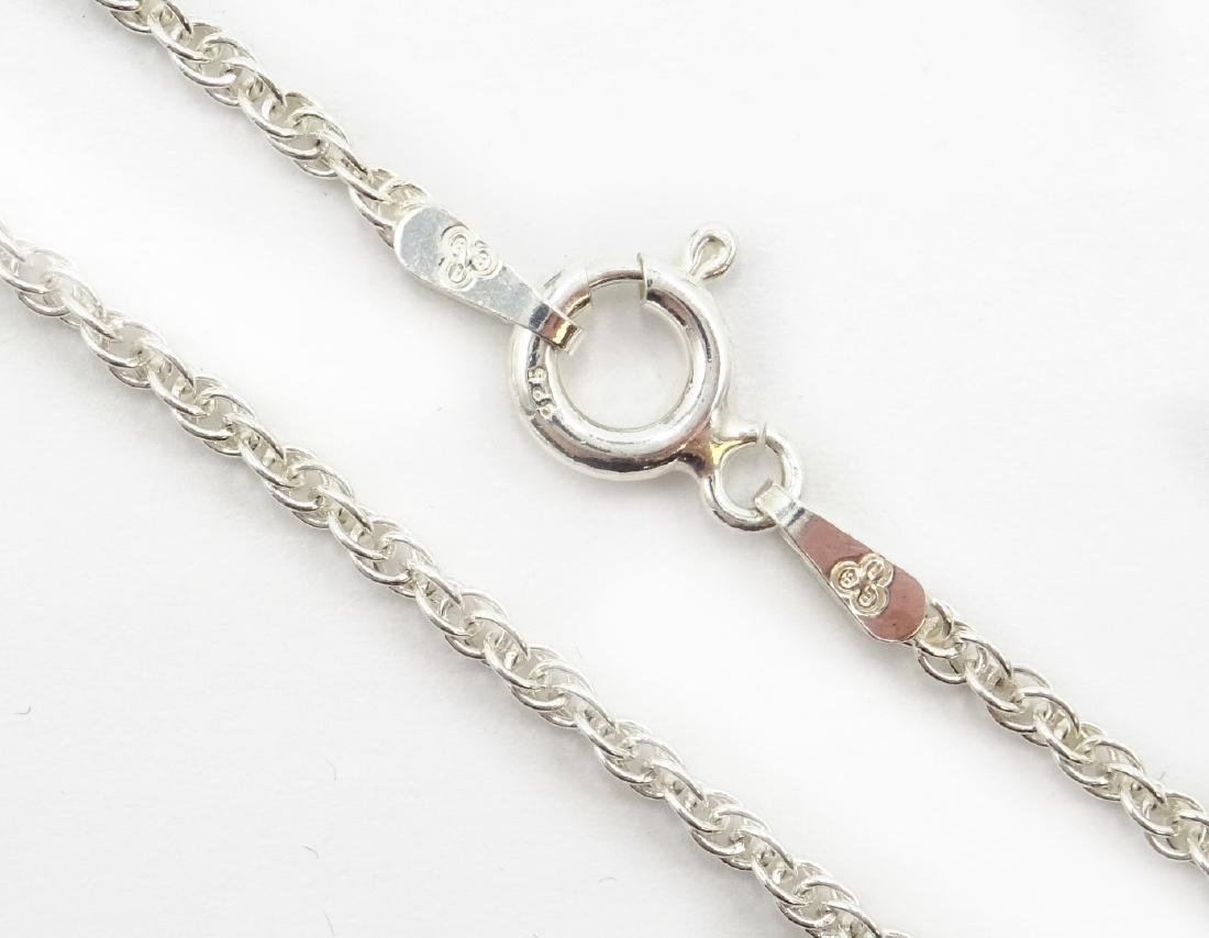 Silver opal pendant necklace stamped 925 - 3